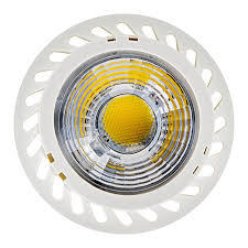 gu10 led bulb warm white 3000k multifaceted lens with 7w cob