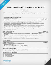 Phlebotomy Resume Sample Entry Level Examples Of Resumes