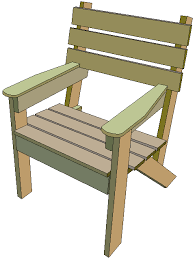 Plans For Wooden Outdoor Furniture by Simple Wooden Chair Plans Build A Classic Chairs Made Free And