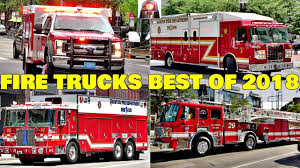 100 Fire Truck Sirens S And Engines Responding Compilation BEST OF 2018 Q
