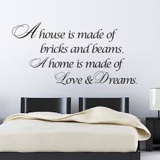 A Home Is Made Of Love Dreams Quotes Wall Sticker Bedroom Vinyl Decal Decoration