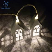 baoblaze 10 led battery operated home diwali house shape string