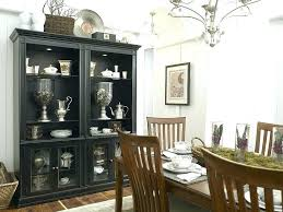 White Corner China Cabinets Cabinet Hutch Black Is The Showstopper In This Eclectic Kitchen Design Antique