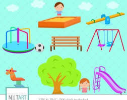 Playground Clip Art Kids Playing Clipart Vector Graphics Swings Digital Images