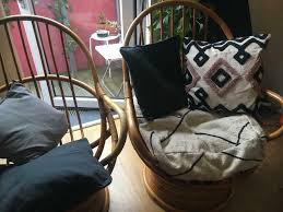 Pair Of Vintage Boho Bamboo Swivel Rocking Chairs | In Clapham, London |  Gumtree