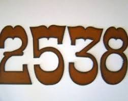 Large Recycled Rustic Metal House Number Cutout