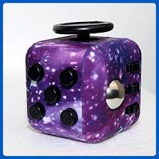 Latest Styles Chic Purple Space Galaxy Starry Sky Fidget Cube Toy Dice Anxiety Stress Attention Relief