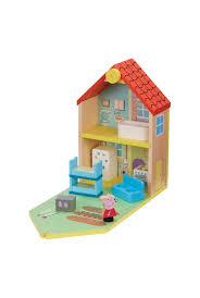 peppa pig wooden family home whitcoulls