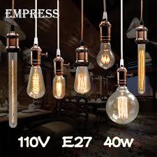 110v lada edison bulb l vintage socket e27 ceiling lights