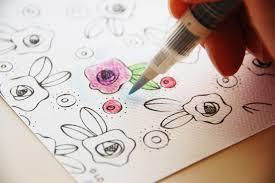 Roree Rumph Adornit Artplay Coloring Book Watercolor Card Step3