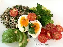cuisiner les brocolis salade de quinoa brocoli lentilles la cuisine d agnèsla cuisine