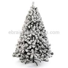 New Big Size Tall Snowing White Christmas Tree Decorations Frosted Snow Artificial Trees Wholesale China