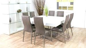 Glass Square Dining Table For 8 Room Superb Modern Tables Seats