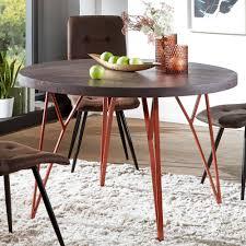 esszimmertisch 118x79x118 cm massivholz metall industrial tisch esstisch rund massiv akazie küchentisch holztisch esszimmer moderner