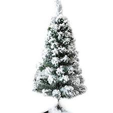 CHICHIC Christmas Tree 3 Ft Flocked Snow 100 Branch Tips With Solid Legs Realistic Faux Xmas