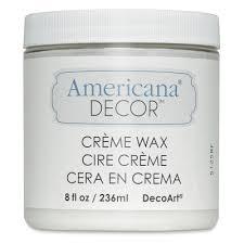 Americana Decor Creme Wax 8 Oz Clear by Americana Decor Mediums Blick Art Materials