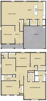 5 br 2 5 ba 2 story floor plan house design for sale charlotte