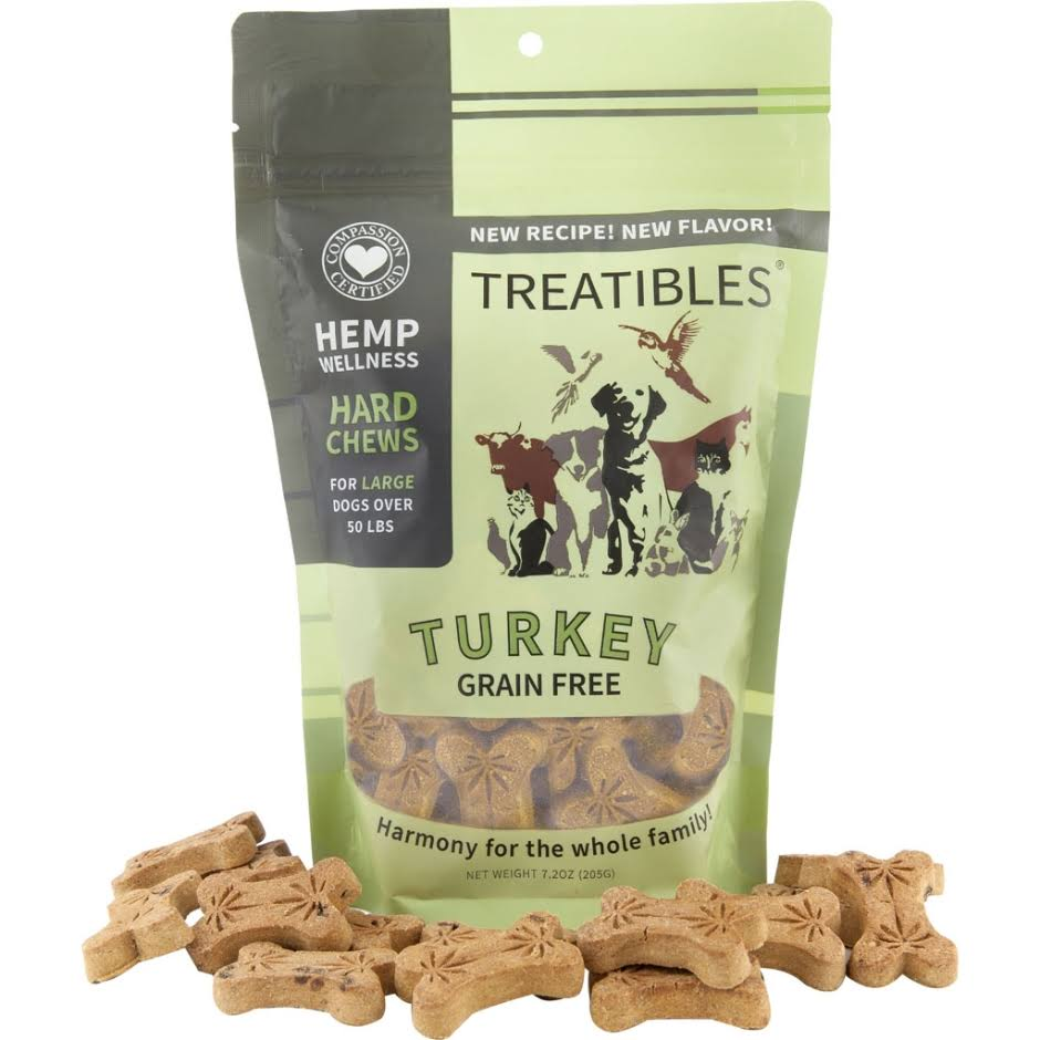 Treatibles Large Turkey Hard Chews 4mg (45 ct) - Canine