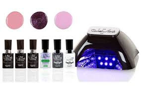Cnd Shellac Led Lamp Wattage by 71 Off On Gel Nail Polish And Led Lamp Set Groupon Goods