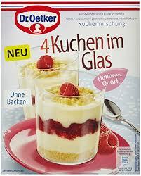 dr oetker kuchen im glas himbeer quark 5er pack 5 x 149 g