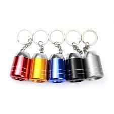 led keychain mini le de poche de cuisson en métal porte clés
