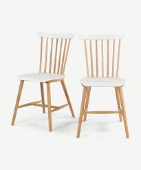 2 x deauville esszimmerstühle weiß und eiche