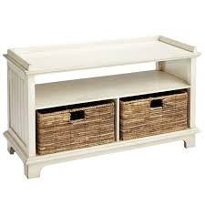 Pier One Sofa Table by Holtom Antique White Storage Bench With Baskets Pier 1 Imports