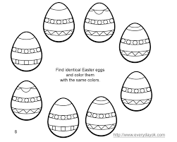 Beautiful Easter Eggs And Bunny Coloring Pages For Ren