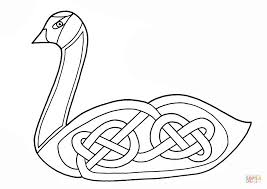 Click The Celtic Swan Design Coloring Pages To View Printable Version Or Color It Online Compatible With IPad And Android Tablets