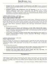 Resume Sample Construction Superindendent Page 2