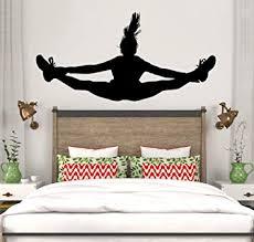 tanzende mädchen wandtattoo vinyl wohnkultur mädchen schlafzimmer kunst wandbild abnehmbare tapete 84 42cm