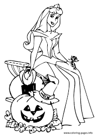 The Sleeping Beauty Halloween Disney Coloring Pages