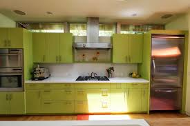 green kitchen cabinets light green cabinets metal