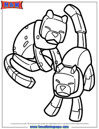 Minecraft Cats Coloring Page