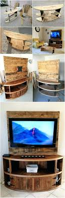 Homemade Tv Stand Wood Pallet Entertainment Center Corner