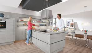 moderne einbauküche norina 2371 beton grau grifflos