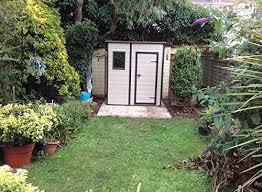 keter manor pent outdoor plastic garden storage shed 6 x 4 feet