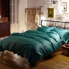 Blue Green Turquoise Egyptian Cotton Bedding Sets Bed Sheets Queen
