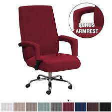 H.VERSAILTEX Stretch Office Chair Covers With Arms Back And Seats Luxury  Lycra High Spandex Small Checks Knitted Jacquard Slipcovers Form Fitted ... Amazoncom 6 Pcs Santa Claus Chair Cover Christmas Dinner Argstar Wine Red Spandex Slipcover Fniture Protector Your Covers Stretch 8 Ft Rectangular Table 96 Length X 30 Width Height Fitted Tablecloth For Standard Banquet And House 20 Hat Set Everdragon Back Slipcovers Decoration Pcs Ding Room Holiday Decorations Obstal 10 Pcs Living Universal Wedding Party Yellow Xxxl Size Bean Bag Only Without Deisy Dee Low Short Bar Stool C114 Red With Green Trim Momentum Lovewe 6pcs Nordmiex Spendex 4 Pack Removable Wrinkle Stain Resistant Cushion Of Clause Kitchen Cap Sets Xmas Dning