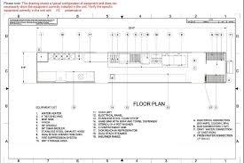Floor Plan Equipment List Commercial Kitchen