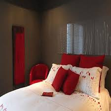 Ashley Whittaker Design Gray And Red Bedroom View Full Size