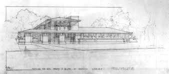 100 Frank Lloyd Wright Sketches For Sale Henry J Allen House Vase By Garden