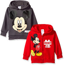Mickey Mouse Bathroom Set Amazon by Amazon Com Disney Boys U0027 Mickey 2 Pack Hoodies Red 2t Clothing