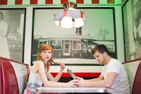 Chic 1950s Retro Diner Engagement Shoot