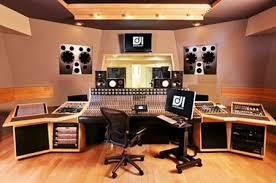 Modern Home Music Studio With Wood Tile Floor