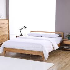 Ansley Solid Oak Wood Bed