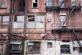 Download Run Down Apartment Facade Stock Image Of Blight