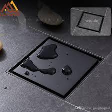 großhandel groß und kleinhandel matte black square invisible badezimmer bodenablauf abfall gitter 10x10cm dusche abfluss schwarz bodenablauf tile