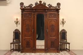 SOLD - Oak 1880 Antique Armoire Or 3 Door Closet, Carved Dragons ... 72 Best Antique Armoire Images On Pinterest Armoire 33 Bureau And Cupboards Painted Antique Beside Window With Heavy Cream Curtain In Closet French Wardrobe Storage Fniture Abolishrmcom Vintage Fniture With Mirror Lawrahetcom An Overview Of Elites Home Decor Hutch Ladybirds Mandeville La At Geebo Wardrobe Closet Massachusetts Ideas All Home