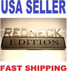 100 Ford Truck Logo REDNECK EDITION CAR TRUCK FORD EMBLEM LOGO DECAL SIGN Chrome BADGE